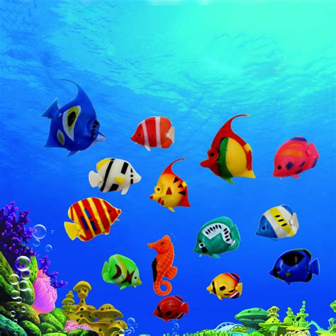 aliexpress buy 10pcs lot artificial tropical fish floating moveable fish fish tank