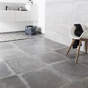 Küchentisch 60 X 60 : carrelage sol et mur gris cendre effet b ton harlem x cm leroy merlin ~ Markanthonyermac.com Haus und Dekorationen