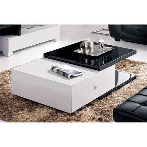table basse noir et blanc design maison design bahbe