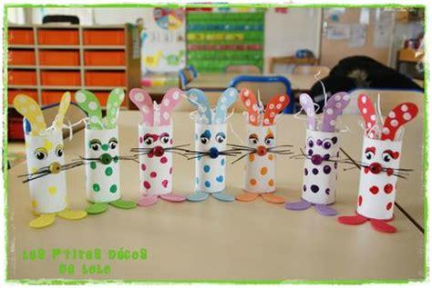 lapins de p 226 ques avec des rouleaux de papier toilette photo de maternelle bricolages pour
