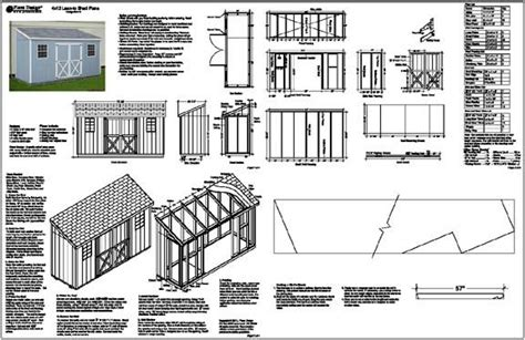 4 x12 slant lean to style shed plans see sles lean to shed plans and sheds
