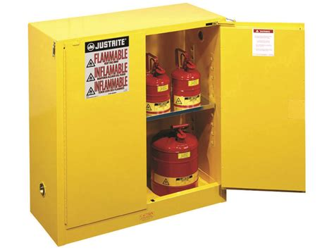 flammable storage cabinet self closing doors 30 gallons cb893020jr usasafety