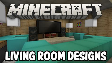 minecraft interior design living room edition