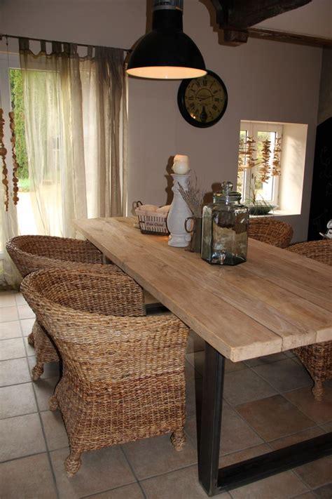 table bois et m 233 tal pour salle 224 manger style cagne chic atelier ou industriel