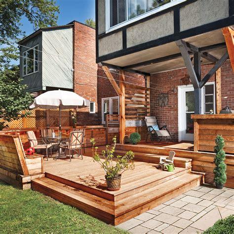 terrasse en bois multifonction patio inspirations jardinage et ext 233 rieur pratico pratique
