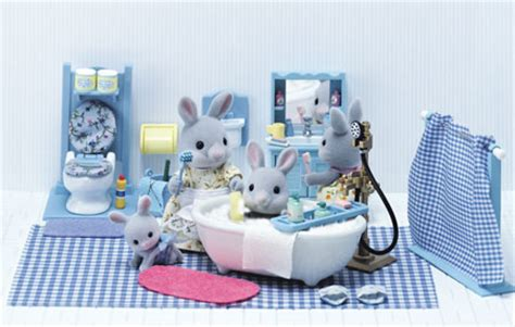 calico critters bathroom set assessories
