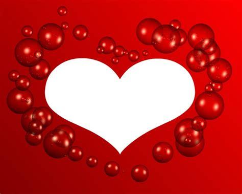 montage photo coeur avec des bulles 1 photo cadre pixiz