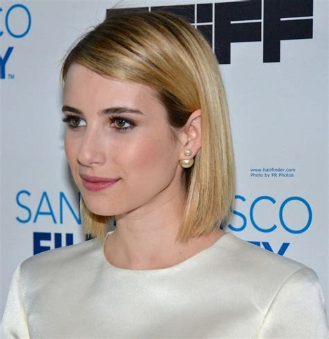 Celebrity Hairstyles: Emma Roberts Short Thin Hair With