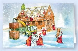 Bilder Hausbau Comic : weihnachtskarte branchenkarte f r bauunternehmen hausbau hochbau weihnachten ~ Markanthonyermac.com Haus und Dekorationen