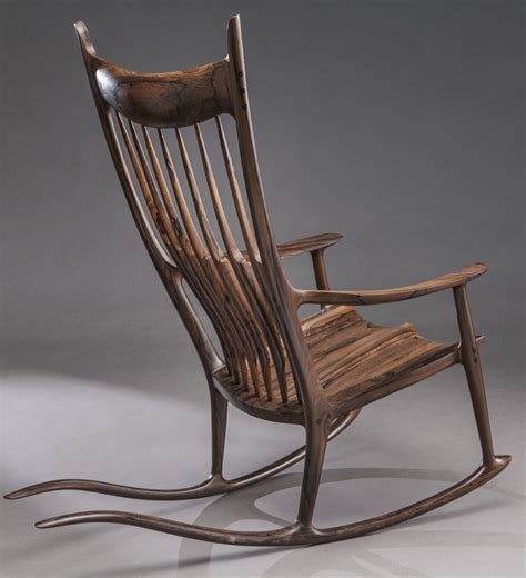sam maloof rosewood tailed rocking chair