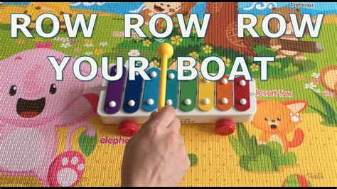 Row Your Boat On Youtube by Row Row Row Your Boat On Fisher Price Xylophone Youtube
