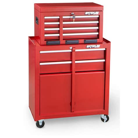 2 pc rolling 6 drawer tool cabinet by waterloo 174 420790