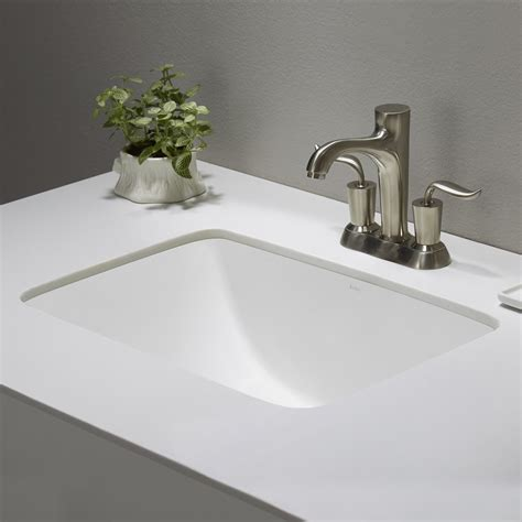 Small Rectangular Undermount Bathroom Sink by Ceramic Sink Kraususa