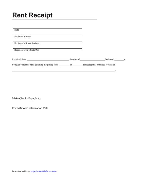Receipt Template  Download Free Business Letter Templates