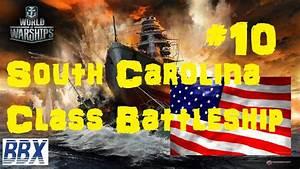 World of Warships Gameplay South Carolina Class Battleship ...