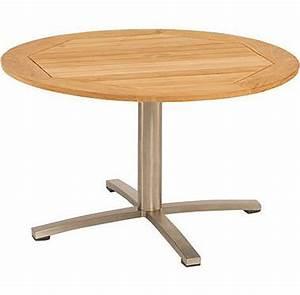 Tischplatte Rund 120 Cm : stern edelstahl tisch 120 rund savona teakholz granit art jardin ~ Markanthonyermac.com Haus und Dekorationen