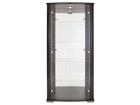 vitrine avec serrure stella coloris noir conforama