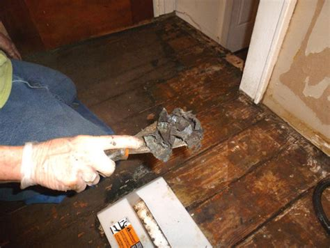 Covering Asbestos Floor Tiles With Hardwood by How To Remove 1930 S Linoleum Glue From 1900 S Wood Floors