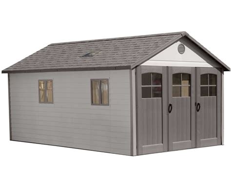 lifetime 11x18 plastic storage shed garage w 9ft wide
