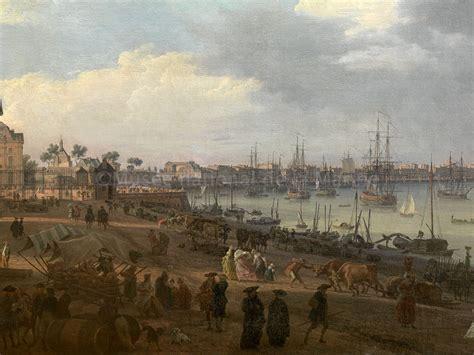 vue d une partie du port de la ville de bordeaux prise du c 244 t 233 des salini 232 res titre de salon
