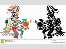 Aztec stencil stock vector Illustration of color, painted