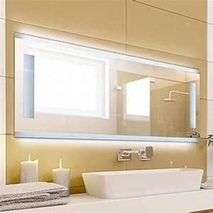 Spiegel Mit Integrierter Beleuchtung : krollmann badspiegel mit beleuchtung modern ohne rahmen mit touch sensor beleuchtet mit ~ Markanthonyermac.com Haus und Dekorationen