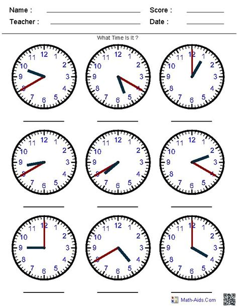 25+ Best Ideas About Clock Worksheets On Pinterest  Teaching Clock, Clock For Kids And Telling