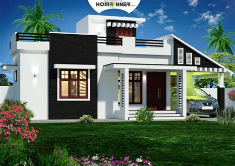 Home Design 900 Square : 900 Sq Feet Kerala House Plans 3d Front Elevation