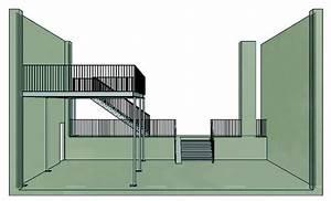 Halbgewendelte Treppe Mit Podest : metall werk z rich ag galerie und podest mit treppe und gel nder ~ Markanthonyermac.com Haus und Dekorationen