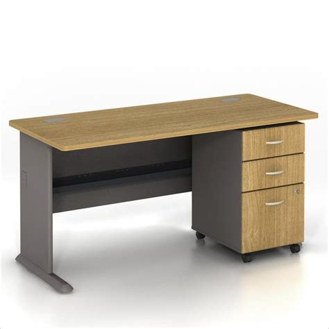 bush bbf series a 60 quot computer desk with 3 drawer file