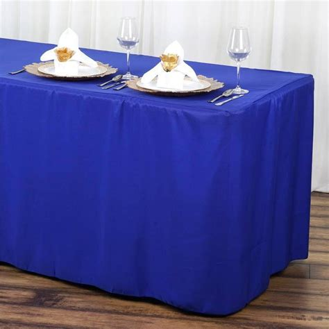 Royal Blue Fitted 6 Feet Tablecloths  Efavormart. Teenage Desk Furniture. Unfinished Solid Wood Chest Of Drawers. Retro Desk Lamps. Usb Cash Drawer. Colored End Tables. Craft Desk. Poker Card Table. What Is The Desk