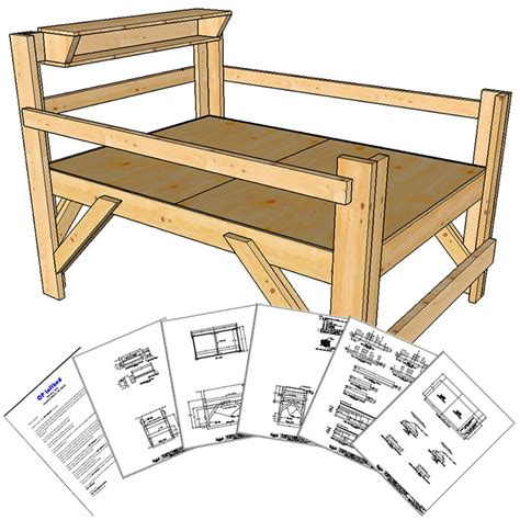 Loft Bed Woodworking Plans by Plans For Building A Size Loft Bed