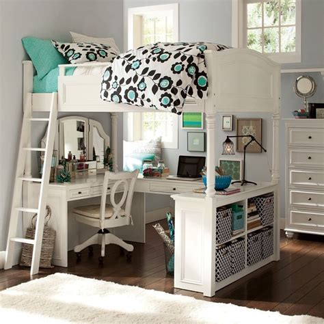 pottery barn size loft bed vanity desk chelsea white bedroom ebay bunk beds