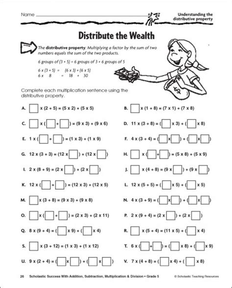 16 Best Images Of Distributive Property With Expressions Worksheets  Distributive Property