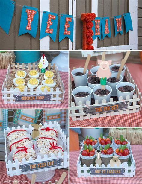 Kara's Party Ideas Farm Birthday Party Planning Ideas