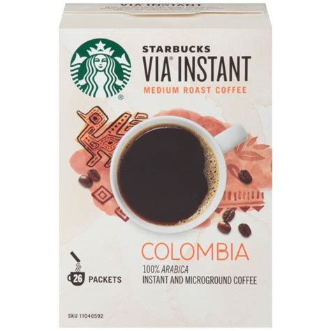 Starbucks Instant Columbian Coffee Packets from Costco   Instacart