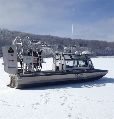 Police Airboat by Nrp Officers To Test New Airboat On Deep Creek Lake