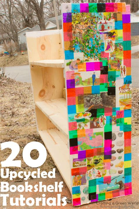 20 Upcycled Bookshelf Tutorials  Crafting A Green World