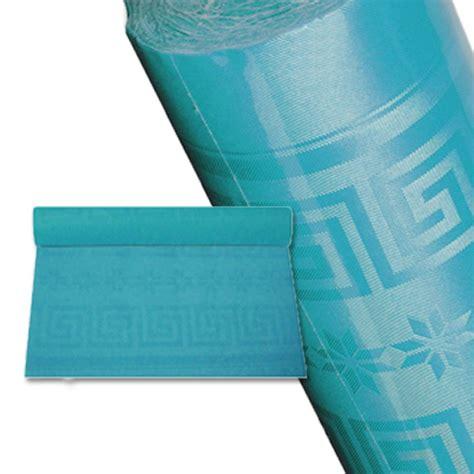nappe papier rouleau nappage bleu turquoise 25 m jetable