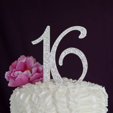 sweet 16 cake toppers sweet 16 sixteen birthday cake topper silver number