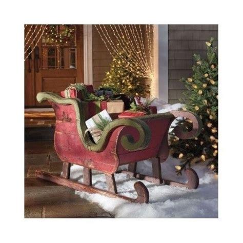 Santa Sleigh Outdoor Decoration by Santa Reindeer Sleigh Christmas Outdoor Indoor Holiday