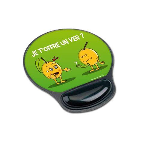 tapis de souris humour lorrain personnalisable ergonomique mirabelle je t offre un ver drole