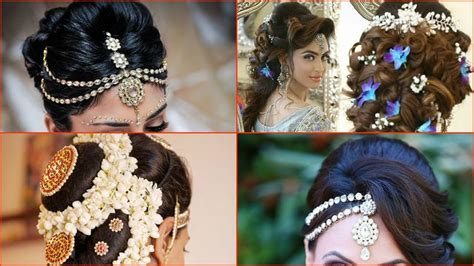10 Most Beautiful Indian Bridal Hairstyle Images Medium Length Layered Haircut 2016 Easy Buns Hair Images Of Boy Haircuts Round Faces Homemade Dark Blonde Dye Dying Your From Light Brown To Pokemon X Furfrou Modern Wedding Updos Long