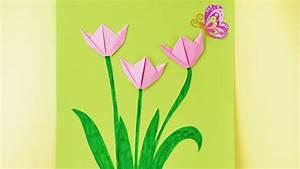Frühlingsdeko Mit Kindern Basteln : basteln mit kindern fr hling origami tulpen falten fr hlingsdeko f rs zimmer youtube ~ Markanthonyermac.com Haus und Dekorationen