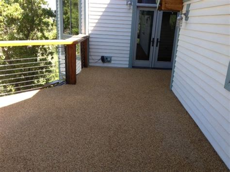 rock carpet waterproof deck rustic deck salt lake
