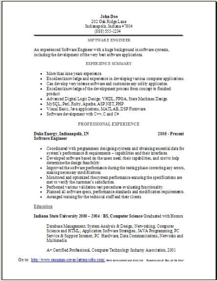 Software Engineer Resume Sample, Occupationalexamples. Resume Sample Engineering Student. How To Develop A Resume. Sales Resume Summary Examples. Logistics Specialist Resume Sample. Insurance Sales Resume Sample. Sample Photography Resume. Resume Samples For Technical Support. Quality Control Specialist Resume