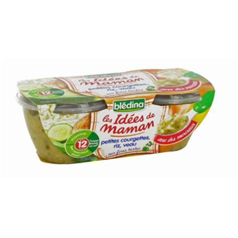 petit pot idee maman bledina petites courgettes riz veau des 12 mois 2 x 200g tous les