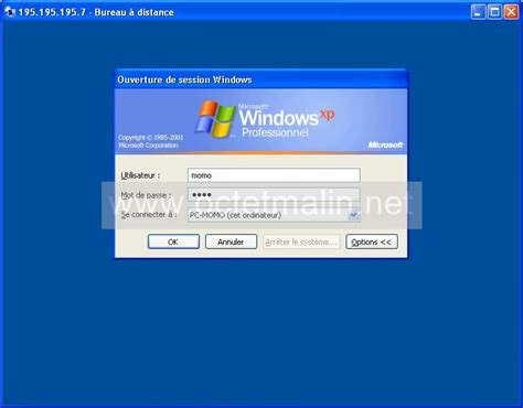 windows xp bureau 224 distance connexion www octetmalin net