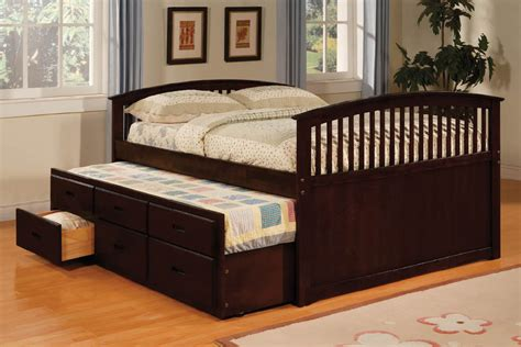 up to 30 size captain bed with trundle drawers