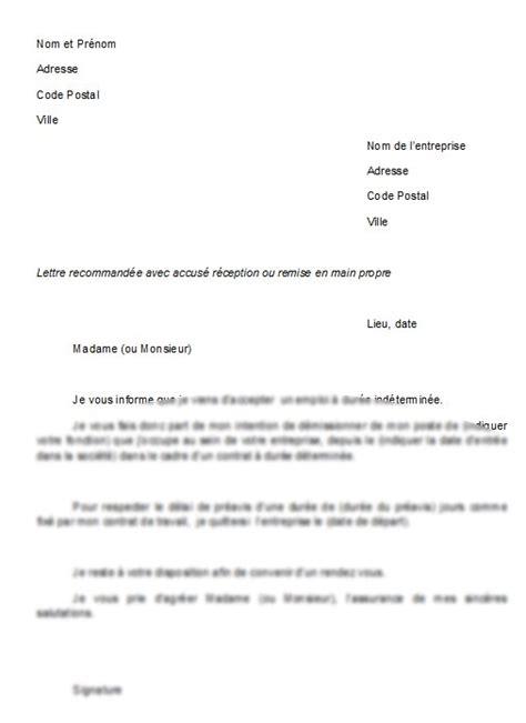 lettre de d 233 mission cdi application letter